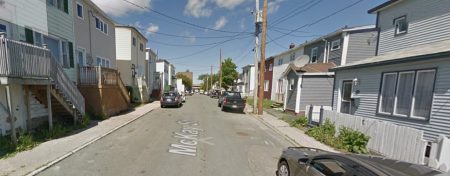 Google maps view of McKay St., St. John's.