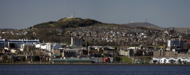 Dundee with law in distance
