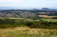 view of Edinburgh from the Pentland Hills