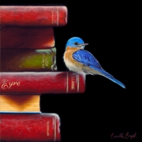 Bluebird-Painting-Classic-Literature-Book-Stack