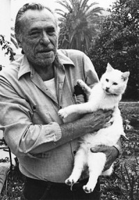 Bukowski with one of his favorite cats