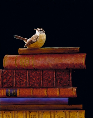 Carolina-Wren-Bird-Painting-Collectible-Books