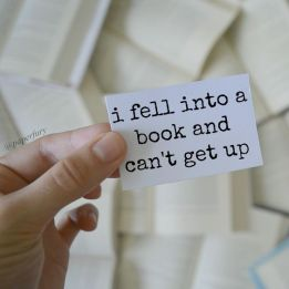 fell into a book