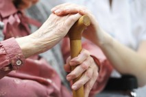 Nursing home - holding hands