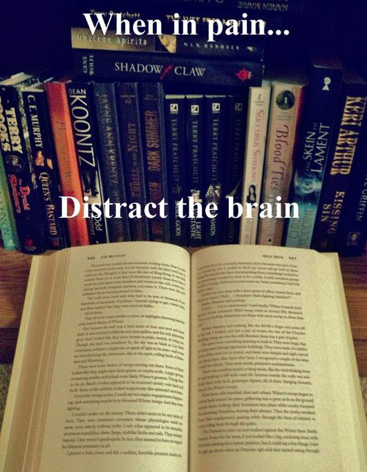 distract the brain