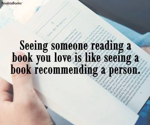 someone reading a book you love