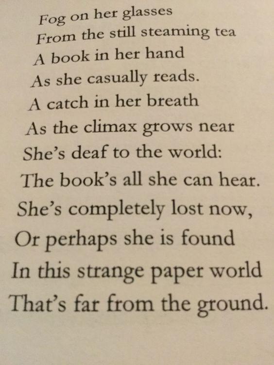 reading poem