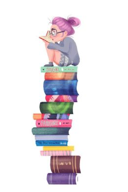 bookworm on pile