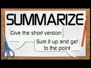 summarize