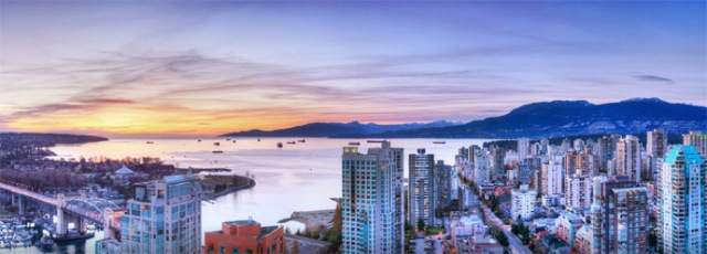view of English Bay from Vancouver