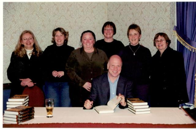 Peter Robinson with members of the Whodunit Book Club in Halifax, Nova Scotia
