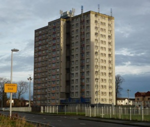 Niddrie tower block